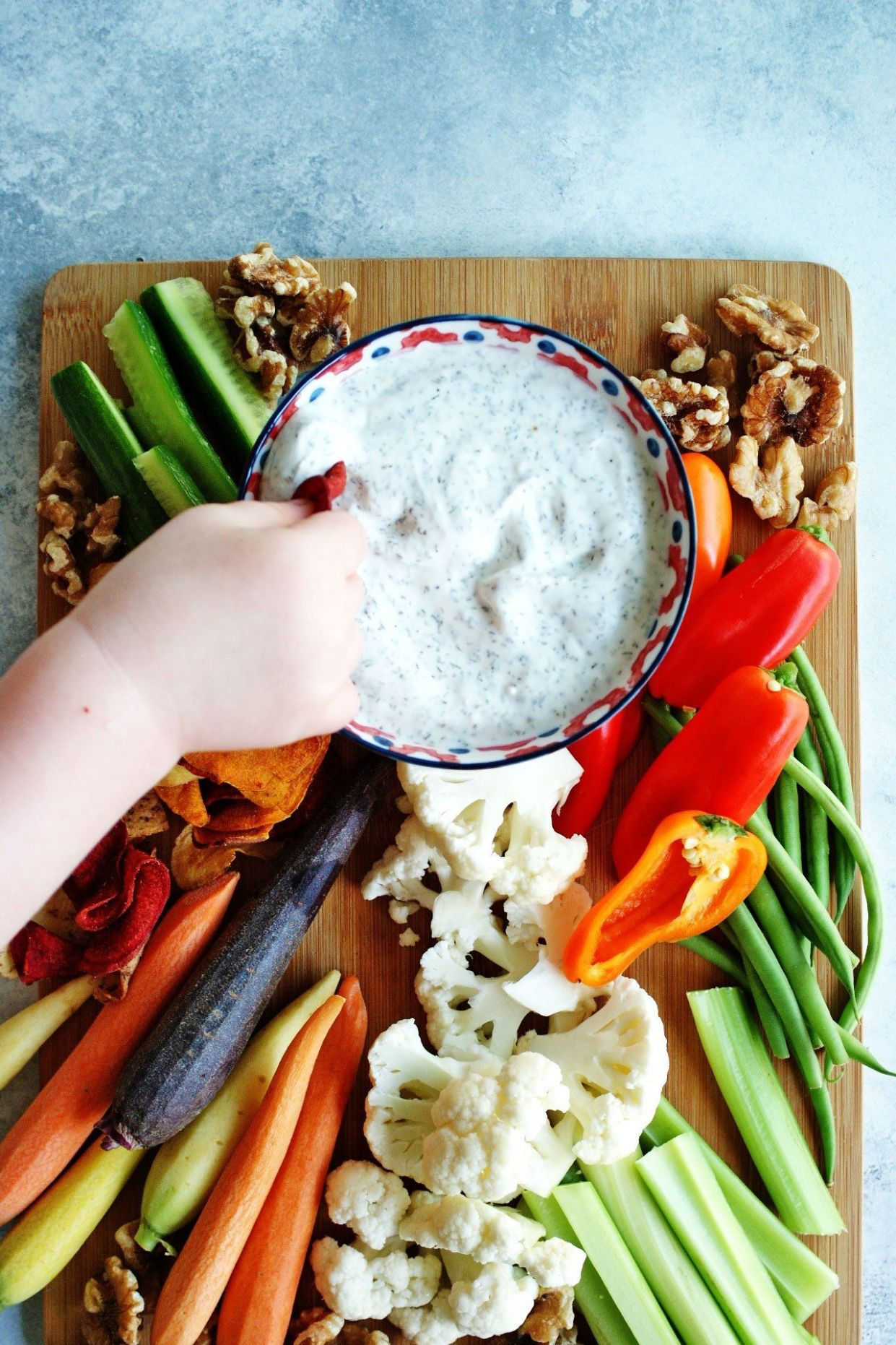 12 Ingredient Greek Yogurt Veggie Dip - Recipes Vegetable Dip