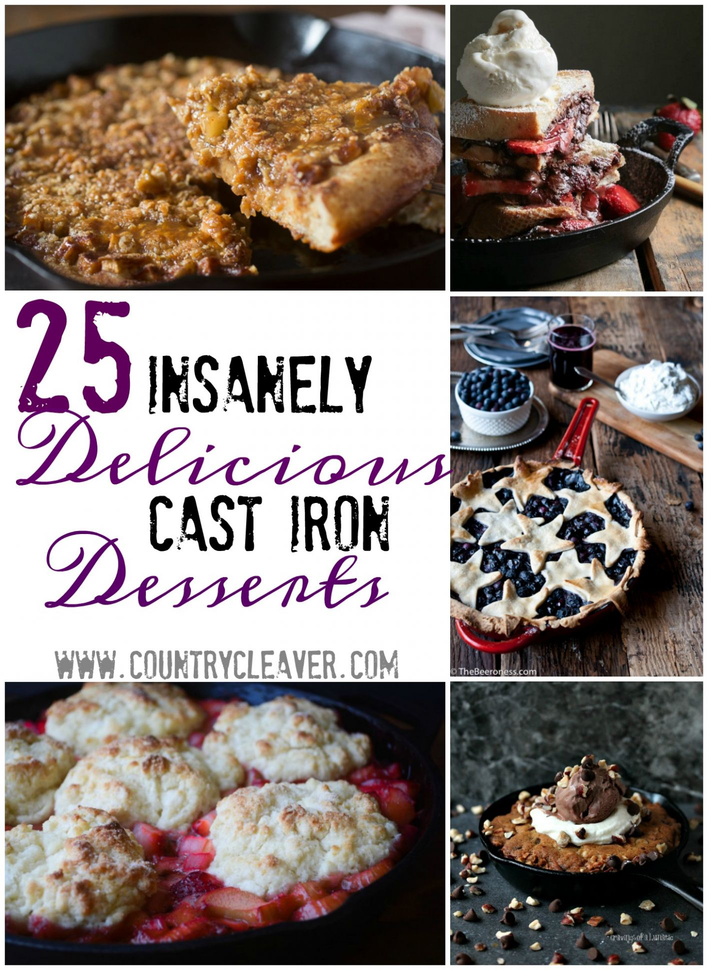 12 Insanely Delicious Cast Iron Desserts - Country Cleaver - Dessert Recipes Delicious