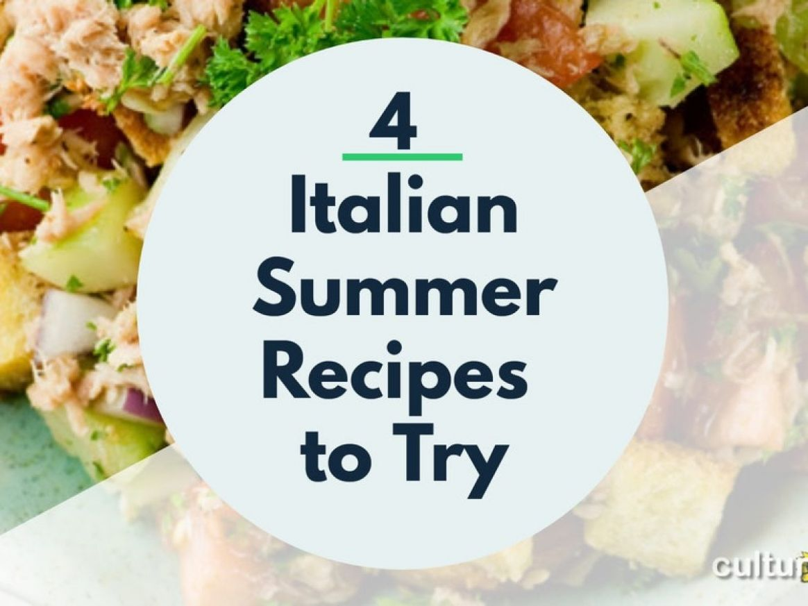 12 Italian Summer Recipes to Try - CDV Italy Cooking Vacations Blog