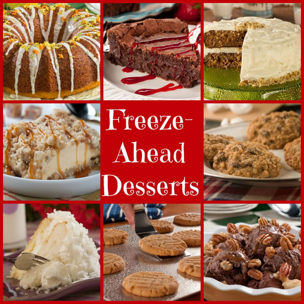 12 Make-Ahead Freezable Desserts for the Holidays | MrFood