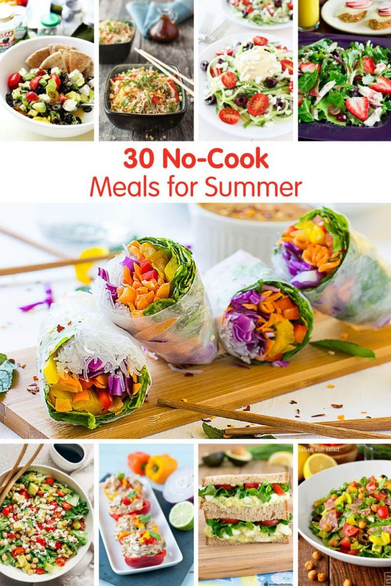 12 No-Cook Meals for Summer | Cold meals, Easy summer meals, No ..