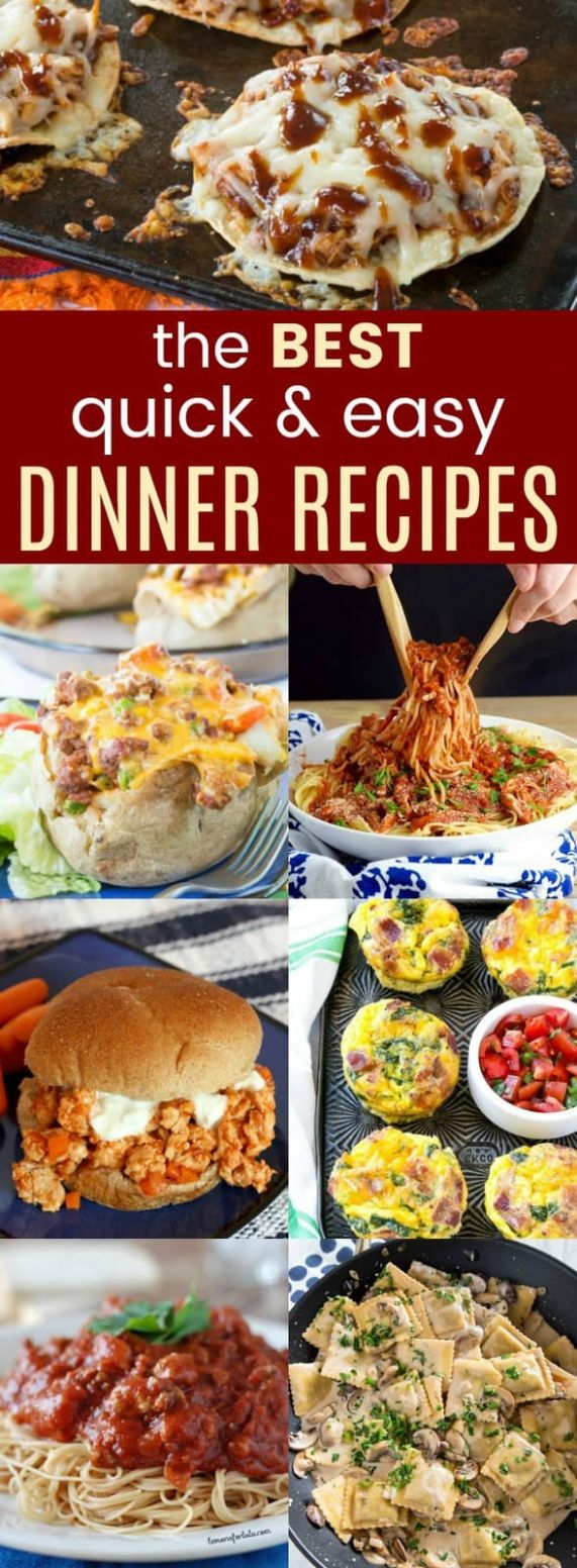 12+ of the Best Quick and Easy Dinner Ideas - Cupcakes & Kale Chips