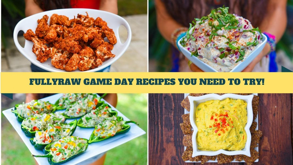 12 SUPER BOWL GAME DAY RECIPES YOU NEED TO TRY! FullyRaw & Vegan! - Vegetarian Recipes You Must Try