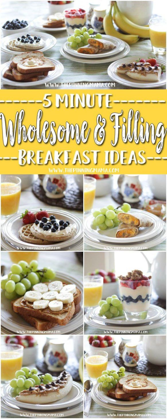 12 WHOLESOME & FILLING breakfast recipes you can make in 12 MINUTES ..