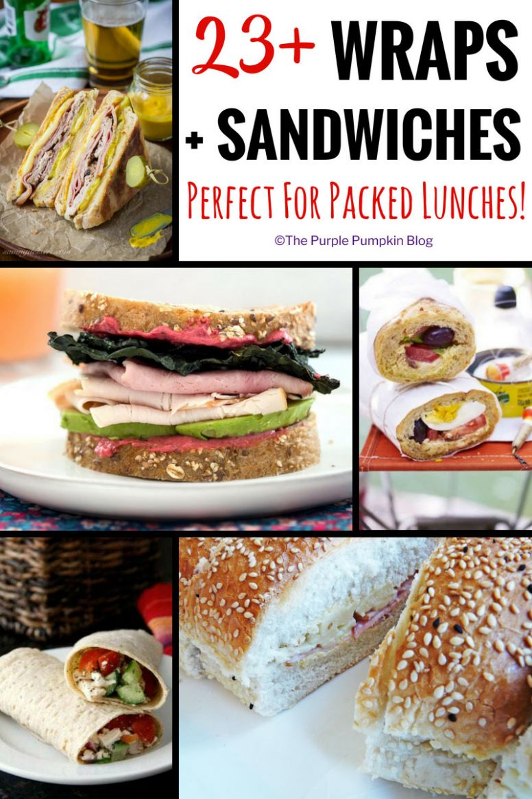 12+ Wrap + Sandwich Recipes Perfect For Packed Lunches - Sandwich Recipes To Take To Work