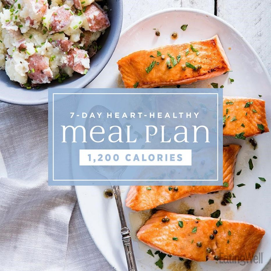 122-Day Heart-Healthy Meal Plan: 12,12 Calories | EatingWell - Healthy Recipes Meal Plan
