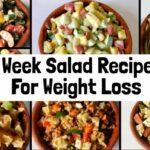 122 Healthy & Easy Salad Recipes For Weight Loss   12 Week Veg Lunch & Dinner  Ideas To Lose Weight – Recipes For Weight Loss Easy