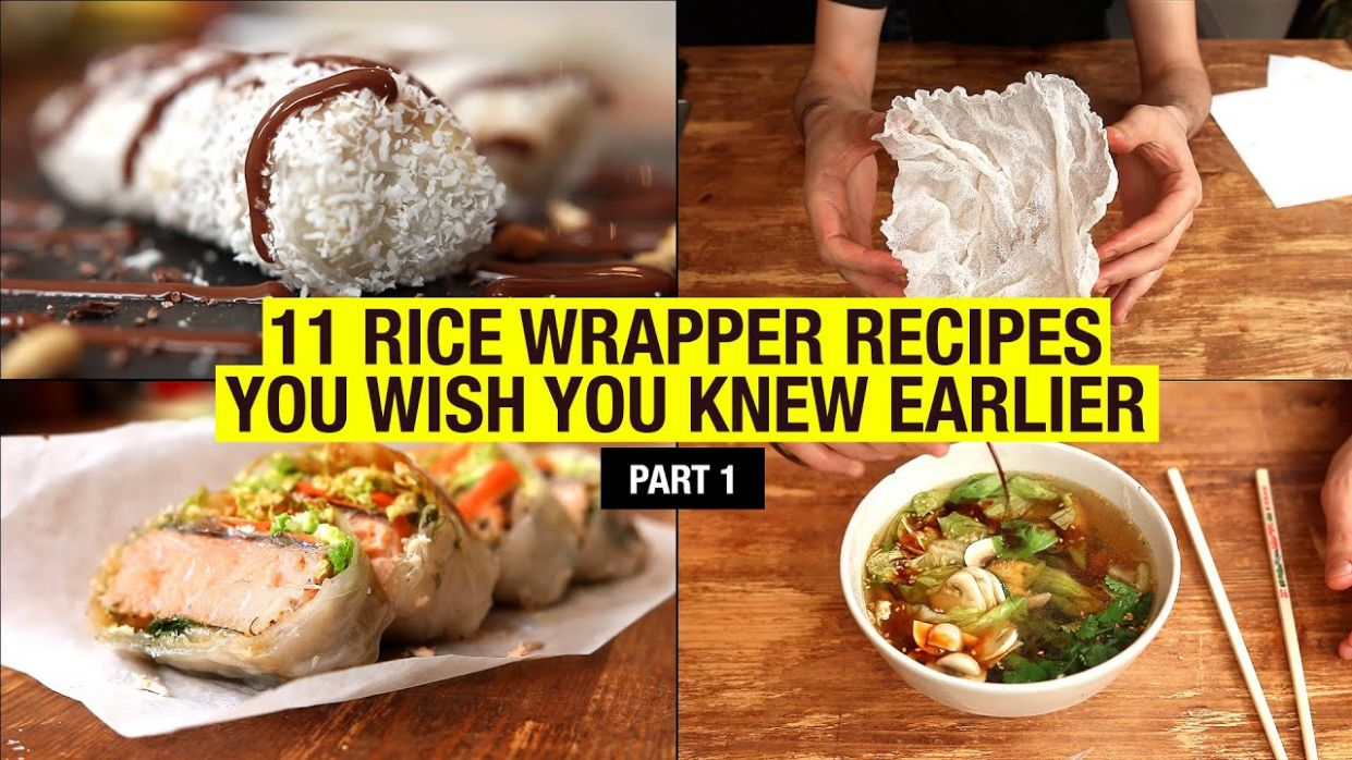 122 Recipes That Use Rice Paper Way Beyond Spring Rolls (part 12) - Recipes Rice Wraps