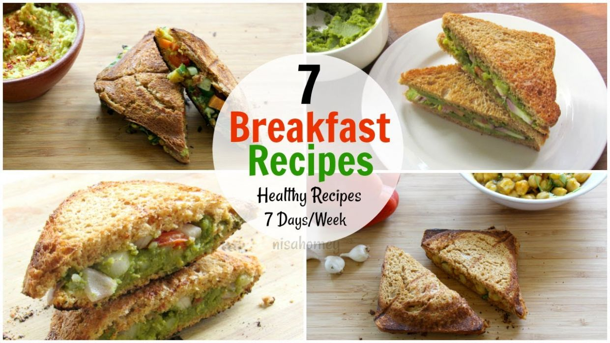 8 Breakfast Recipes For The Entire Week - 8 Days Healthy Breakfast Ideas -  Diet Plan To Lose Weight