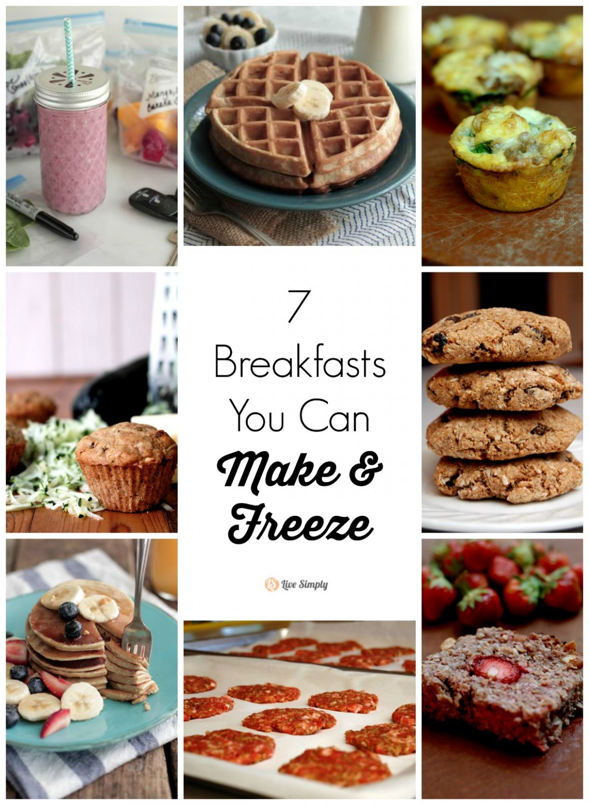 8 Breakfasts You Can Make and Freeze - Live Simply - Breakfast Recipes You Can Freeze