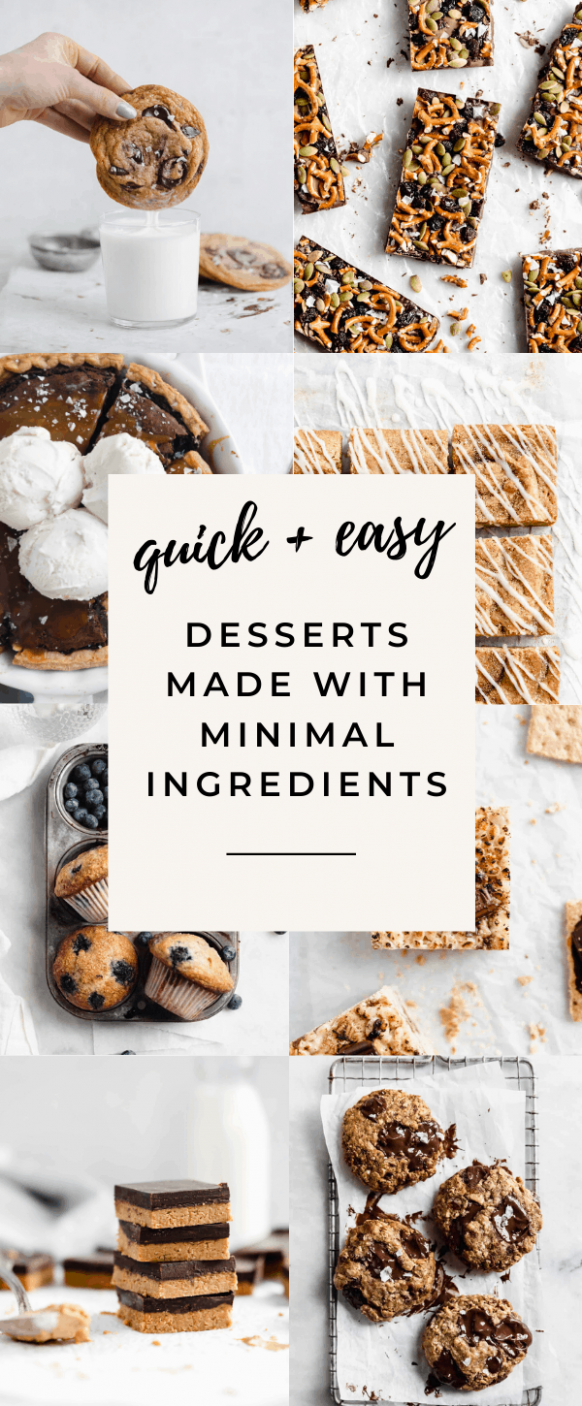 8 Easy Desserts with Few Ingredients - Broma Bakery - Simple Recipes Little Ingredients