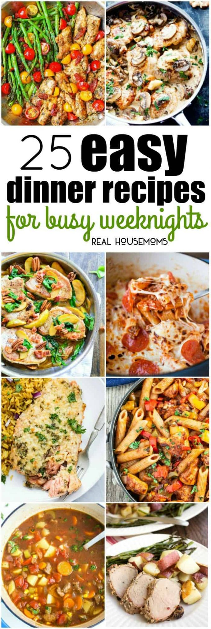 8 Easy Dinner Recipes for Busy Weeknights ⋆ Real Housemoms - Food Recipes Easy At Home