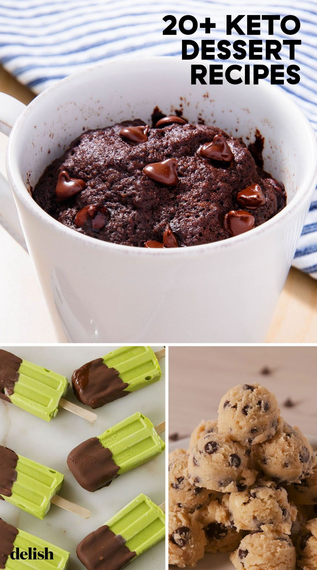 8+ Easy Keto Dessert Recipes - Best Low Carb Desserts for Keto Diets - Dessert Recipes Delish
