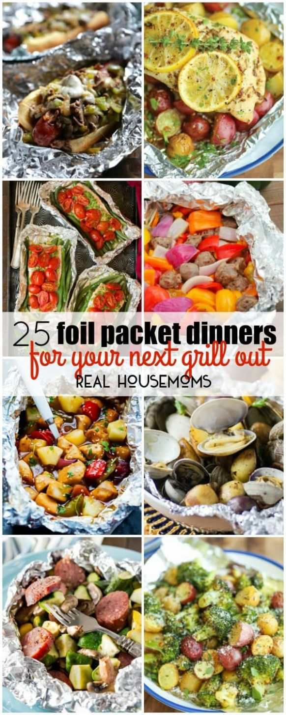 8 Foil Packet Dinners for Your Next Grill Out ⋆ Real Housemoms - Summer Recipes No Grill