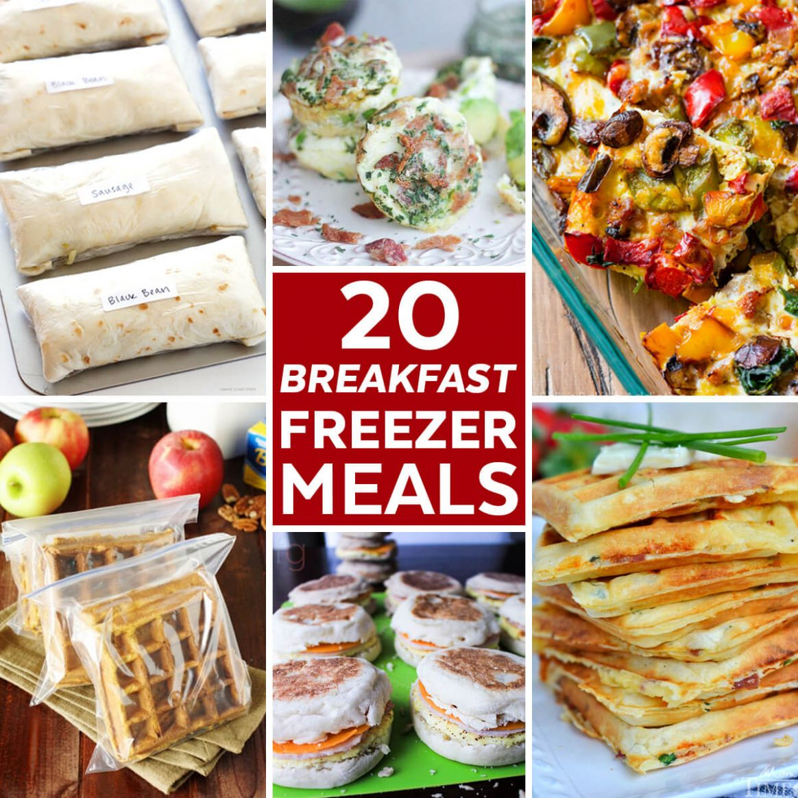 8 Freezer Meals to Stock your Freezer with Breakfasts - Breakfast Recipes To Freeze