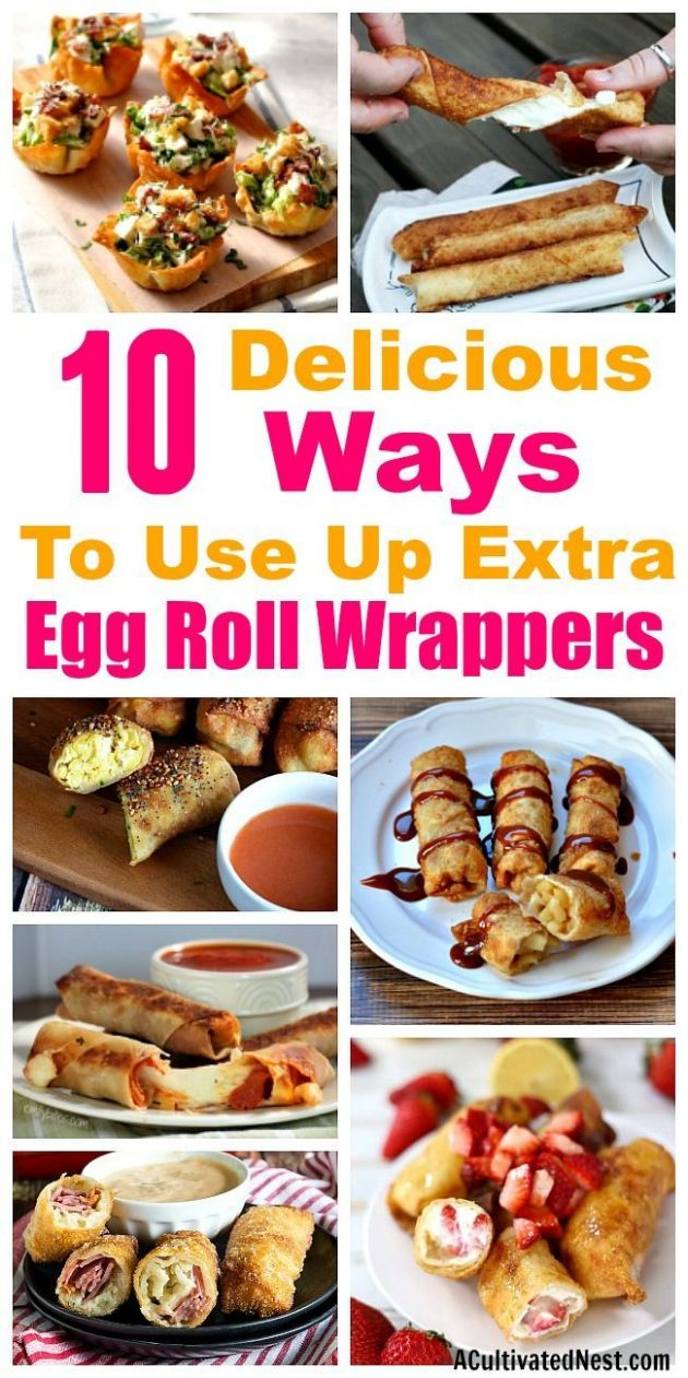 8 Genius Recipes that Use Egg Roll Wrappers | Eggroll wrapper ..
