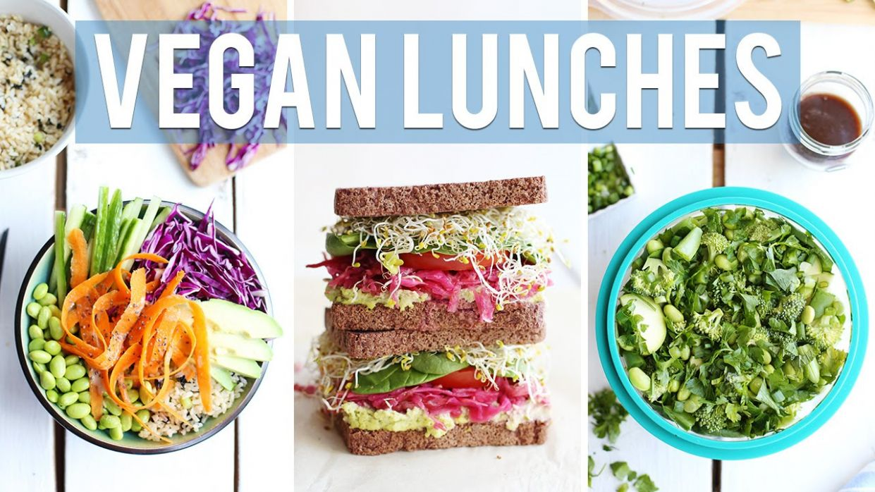 8 HEALTHY + VEGAN LUNCH IDEAS | For Work & School - Recipes Vegetarian Youtube
