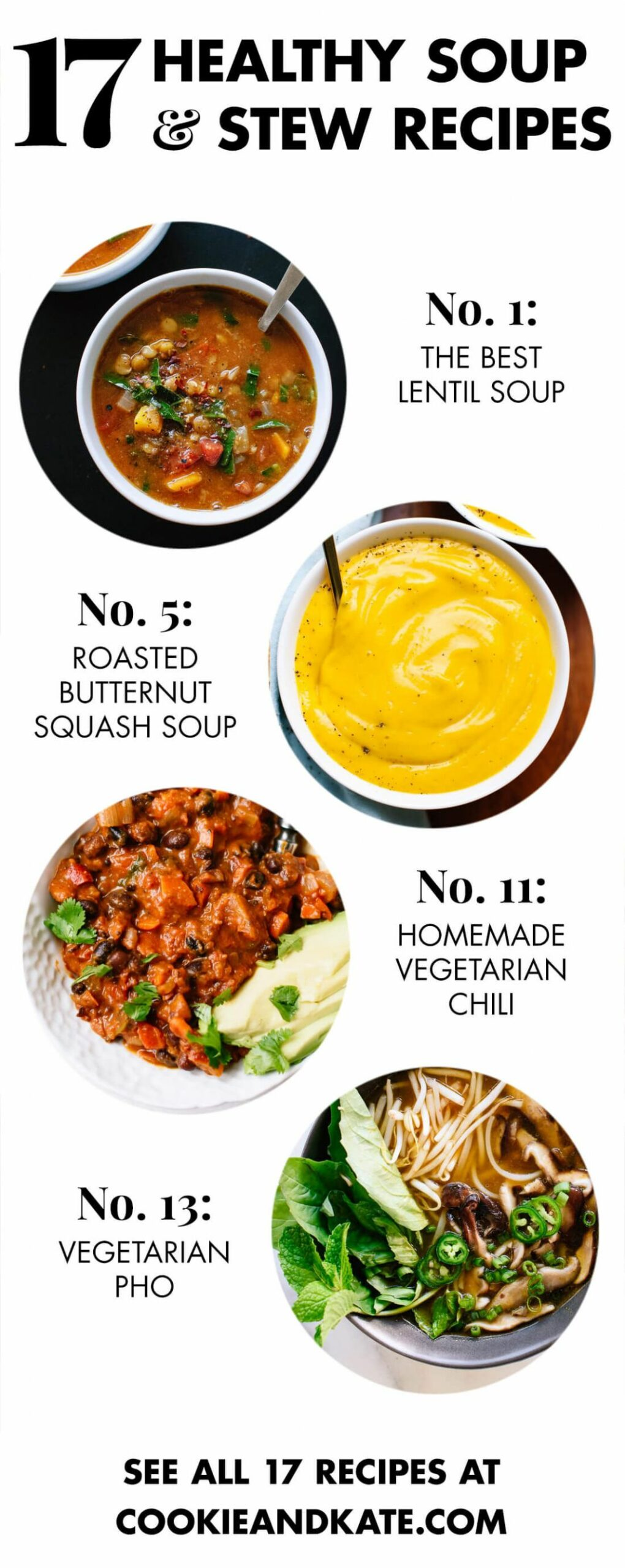 8 Healthy Vegetarian Soup Recipes - Cookie and Kate - Soup Recipes No Meat