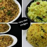 8 instant rice recipes - lunch box recipes and ideas - 8 easy rice recipes  - Yummy Indian Kitchen