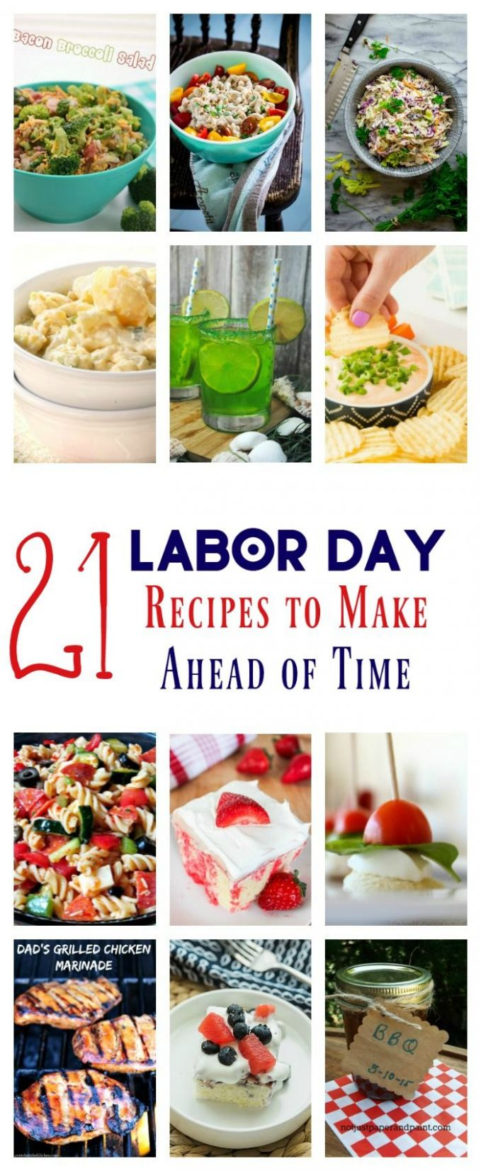 8 Labor Day Recipes to Make Ahead of Time | Barbecue recipes ..