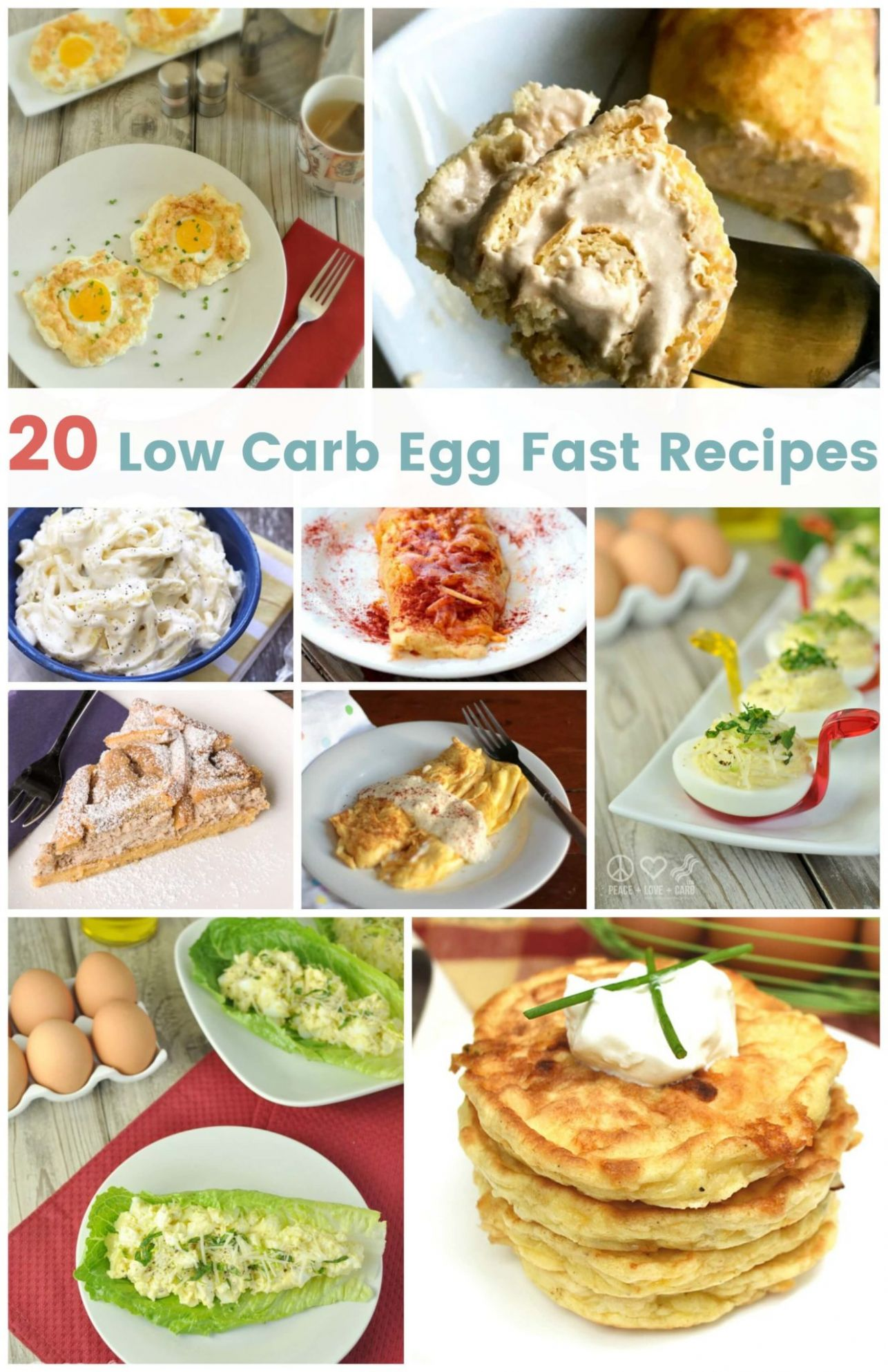 8 Low Carb Egg Fast Recipes | Peace Love and Low Carb