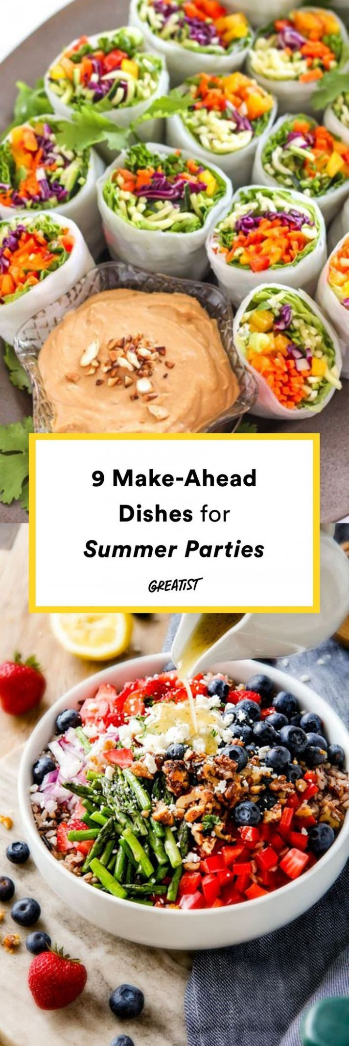 8 Make-Ahead Dishes for Summer Parties - Vegetarian/Vegan Summer ..