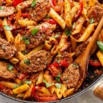 8 Minute Sausage Pasta Skillet – Recipes With Summer Sausage And Pasta