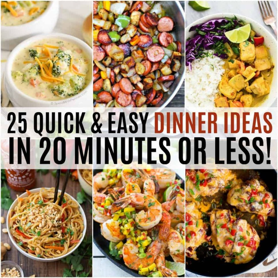 8 Quick and Easy Dinner Ideas in 8 Minutes or Less! ⋆ Real ..
