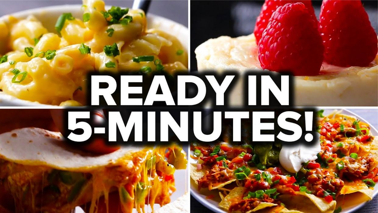 8 Recipes You Can Make In 8 Minutes - Food Recipes Easy At Home