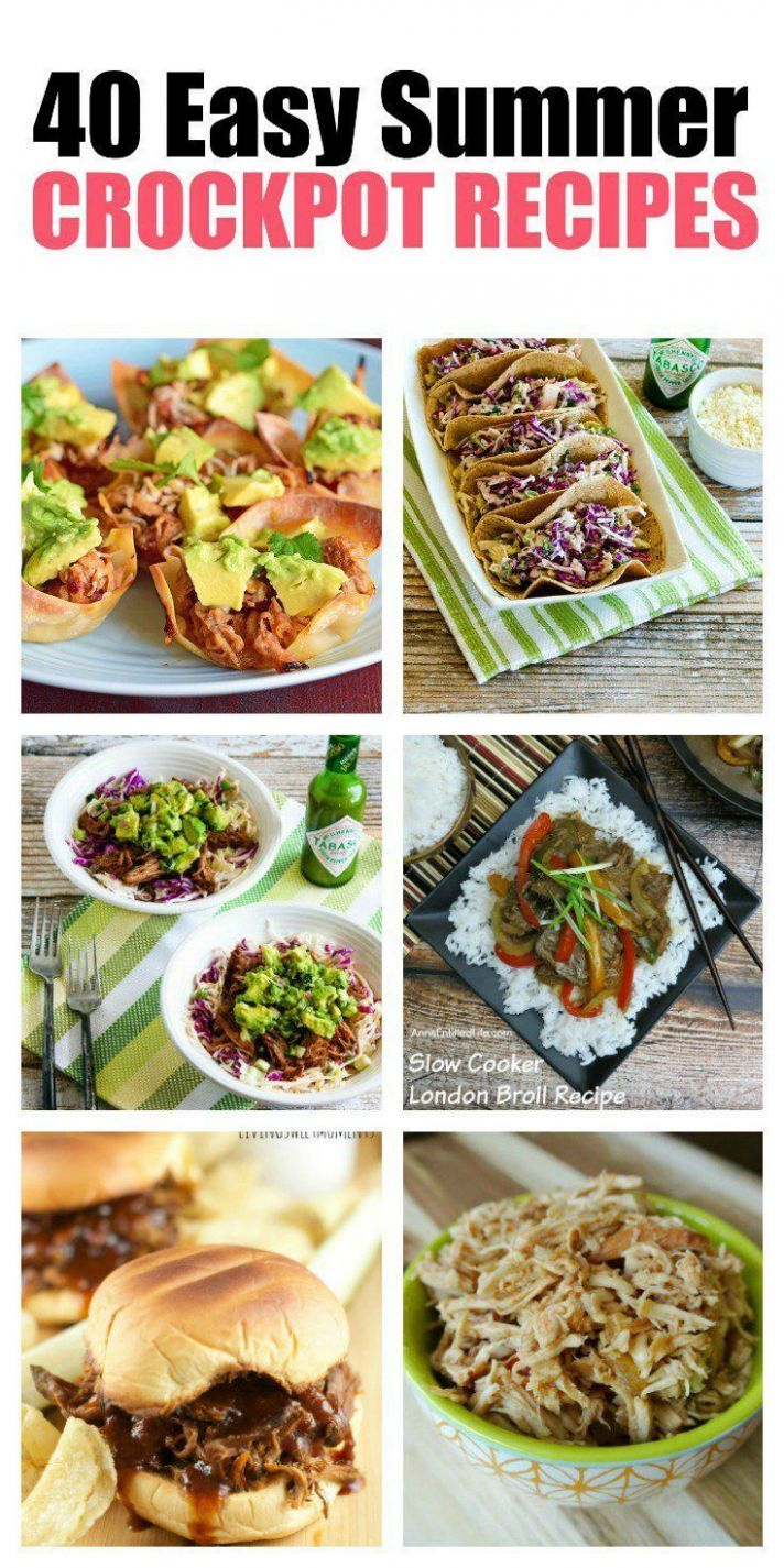 8 Soup Recipes to Warm Your Soul | Easy summer meals, Crock pot ..
