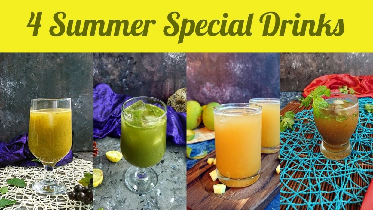 8 Summer Special Drinks | summer drinks indian recipes in hindi | easy  summer drinks to make at home - Summer Recipes In Hindi