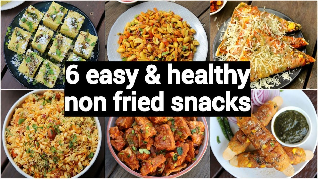 9 easy & healthy non deep fried snacks | instant oil free snacks recipes |  बिना तेल के नाश्ता