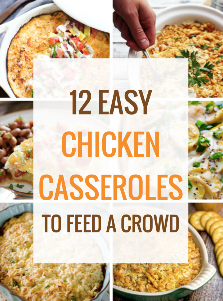 9 Easy Chicken Casseroles to Feed a Crowd | Food recipes, Food ..