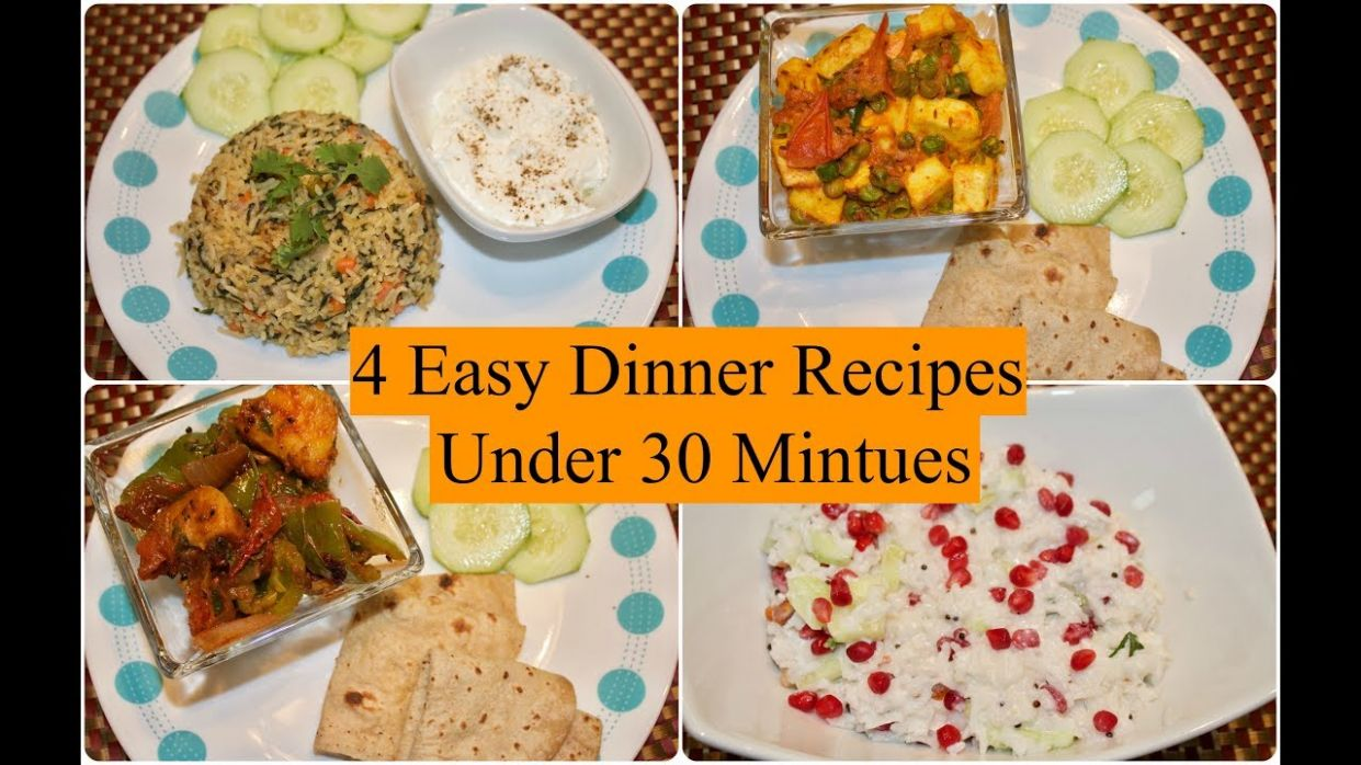 9 Easy Indian Dinner Recipes Under 9 Minutes | 9 Quick Dinner Ideas |  Simple Living Wise Thinking - Easy Recipes Indian
