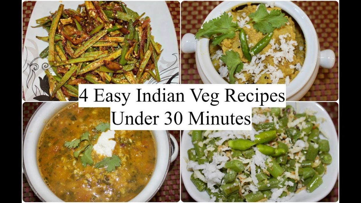 9 Easy Indian Veg Recipes Under 9 minutes | 9 Quick Dinner Ideas | Simple  Living Wise Thinking - Simple Recipes Vegetarian Indian