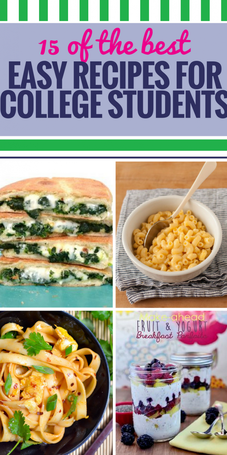 9 Easy Recipes for College Students - My Life and Kids - Easy Recipes College Students