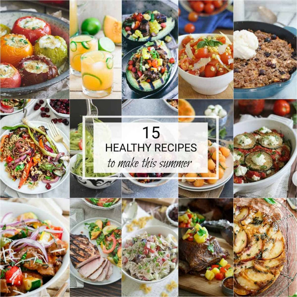 9 Healthy Summer Recipes - Easy Recipes To Make This Summer - Recipes Summer Buffet Lunch