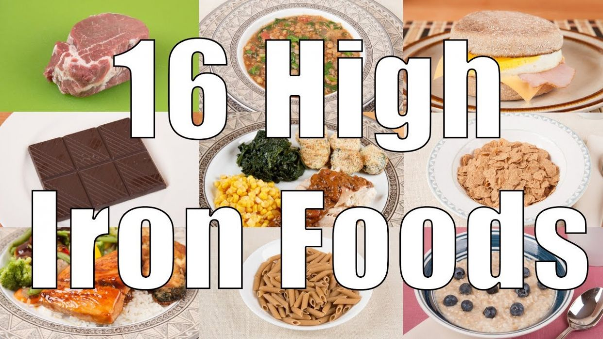 9 High Iron Foods (9 Calorie Meals) DiTuro Productions