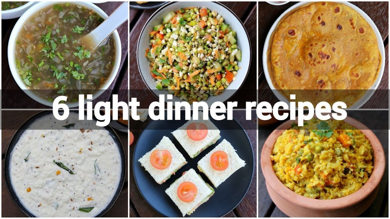 9 light healthy dinner ideas | light dinner recipes for weight loss | diet  recipes lose weight - Dinner Recipes Hebbars