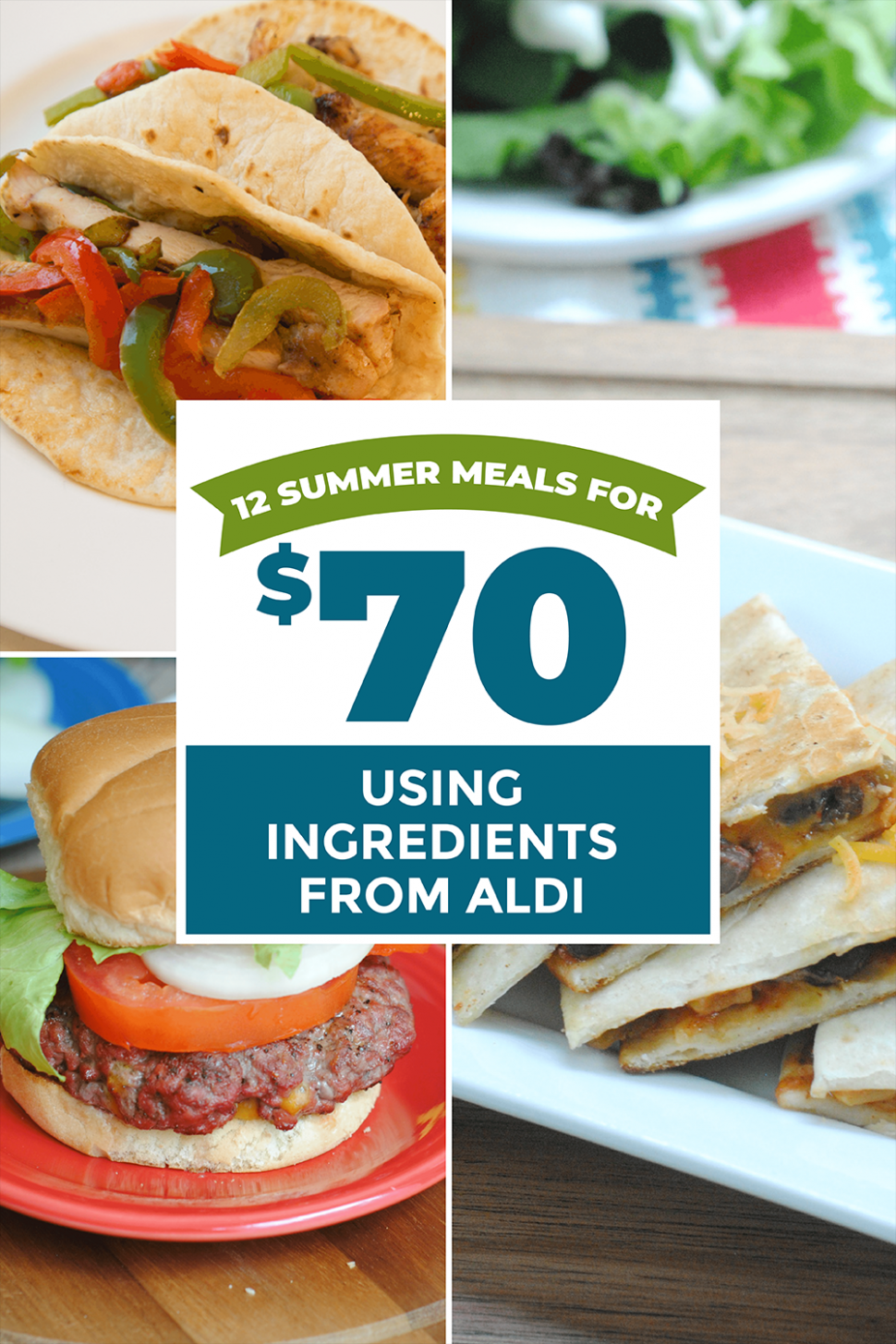 9 Meals for $9 - Summer Meals from Aldi - Summer Recipes Aldi