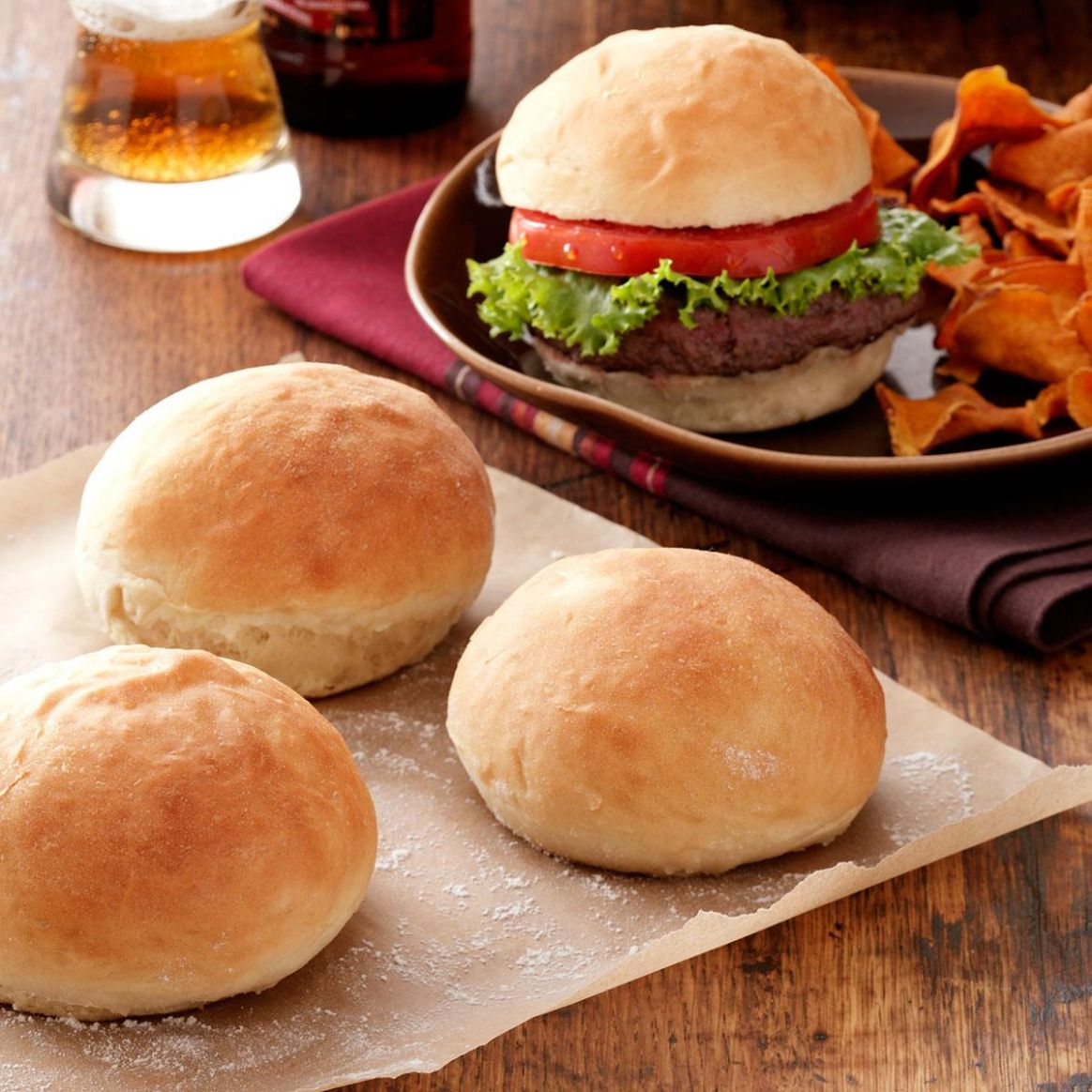 9-Minute Hamburger Buns - Recipes Sandwich Buns