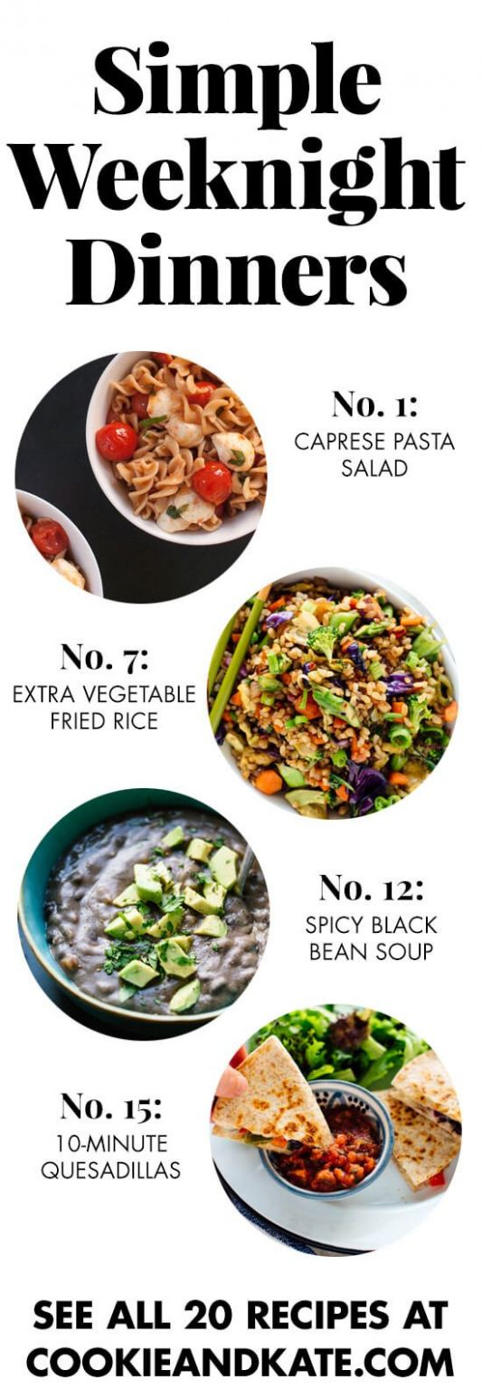 9 Simple Vegetarian Dinner Recipes - Cookie and Kate - Easy Recipes Veggie
