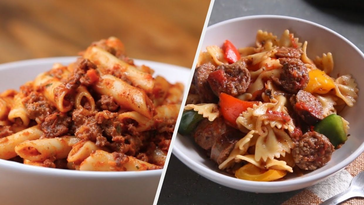 9 Unforgettable Red Sauce Pasta Recipes • Tasty - Pasta Recipes On Youtube