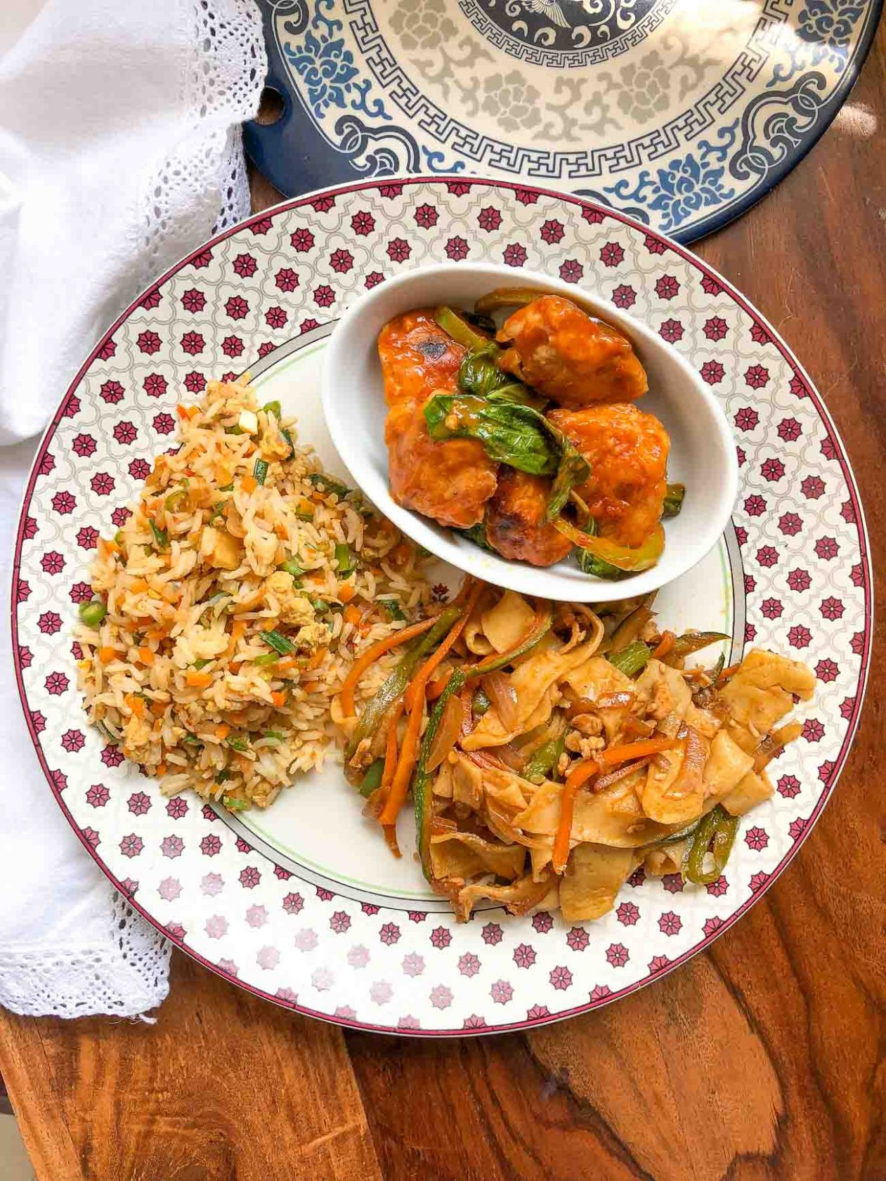 A Dinner You Must Try With Basil Chicken With Noodles & Rice by ..