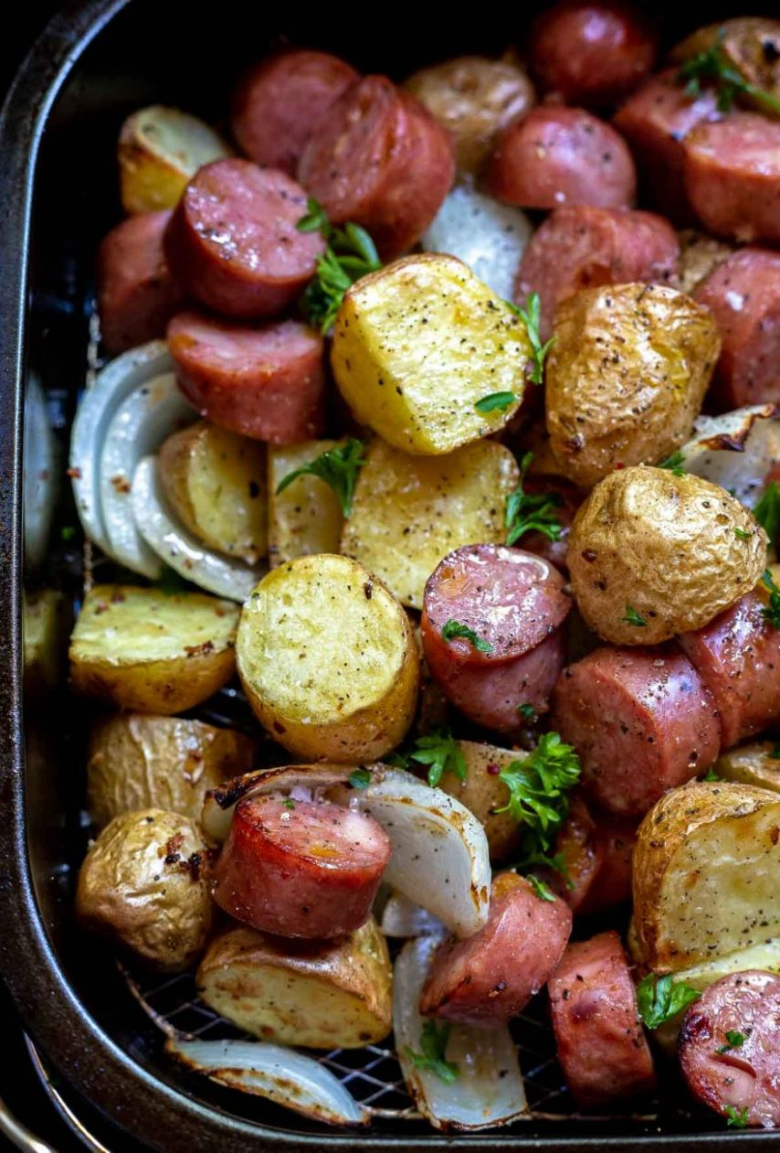 Air Fryer Sausage And Potatoes Dinner Recipes - Recipes Of Chef - Recipes Dinner Air Fryer