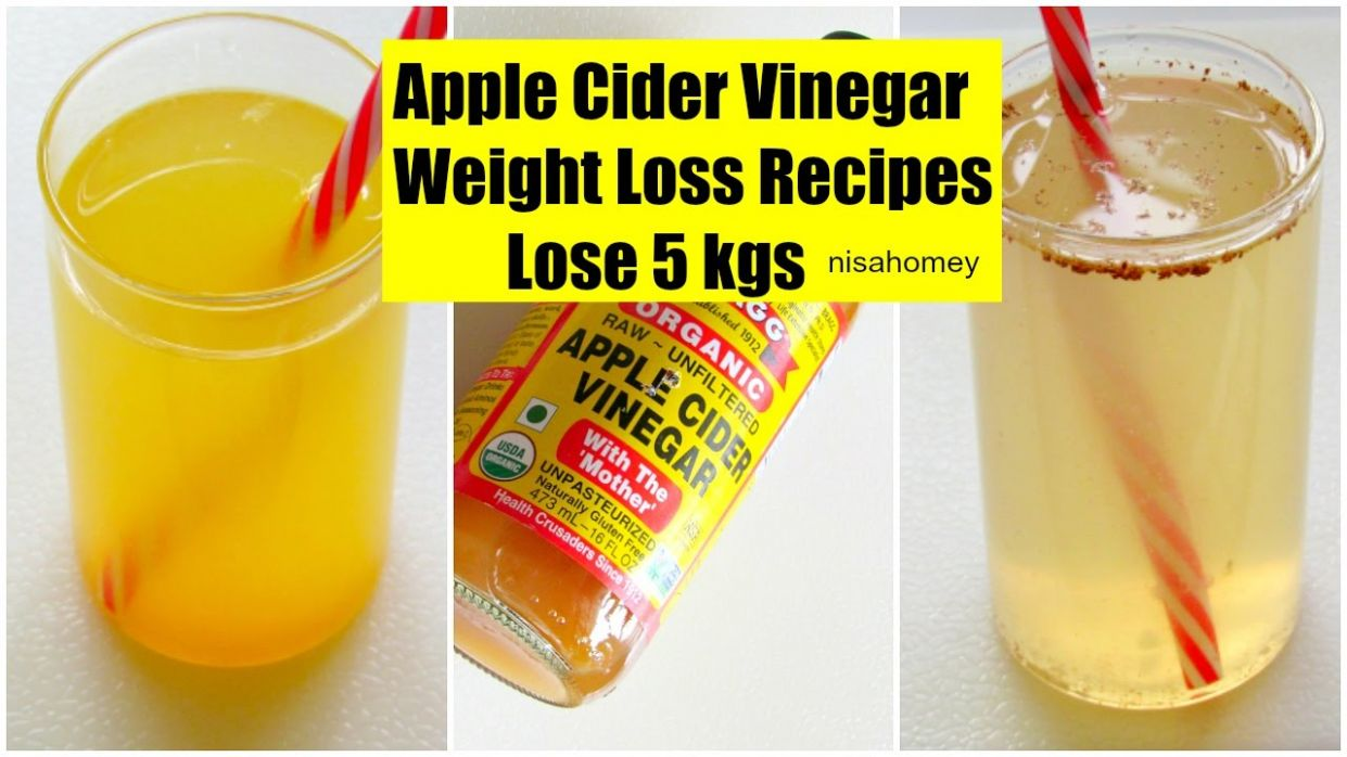 Apple Cider Vinegar For Weight Loss - Lose 8 kgs - Fat Cutter Morning  Routine Drink Recipe - Recipe For Weight Loss With Braggs Apple Cider Vinegar