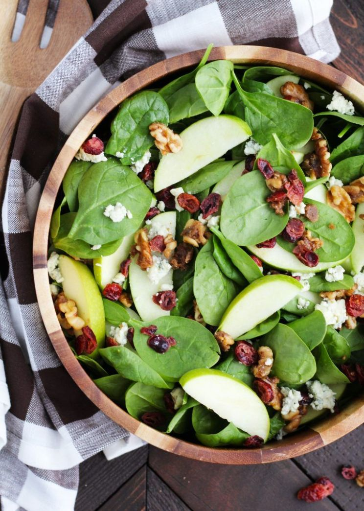 Apple Cranberry Spinach Salad With Candied Walnuts   12 Yummy ..