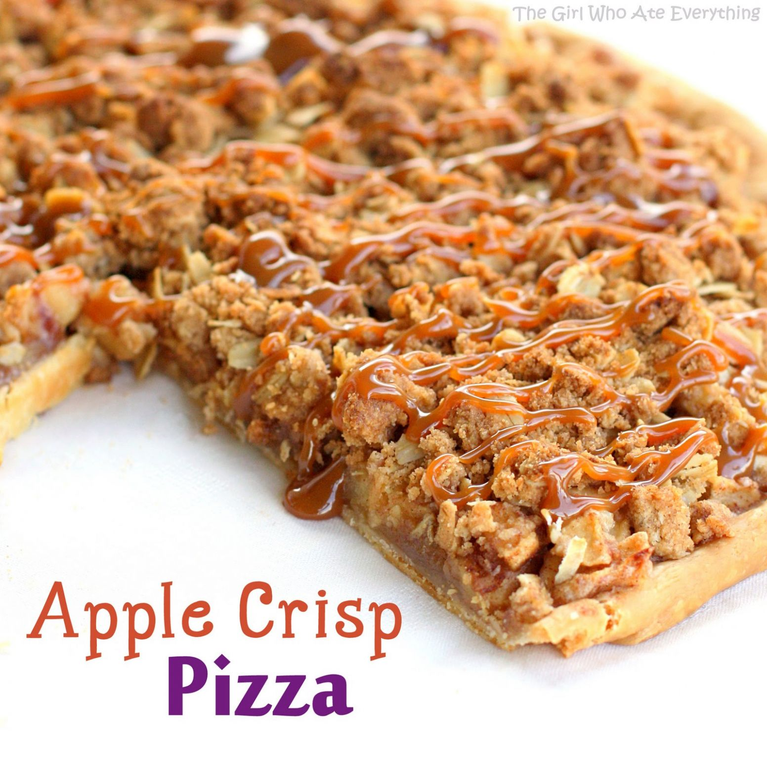 Apple Crisp Pizza - Easy Recipes With Apples