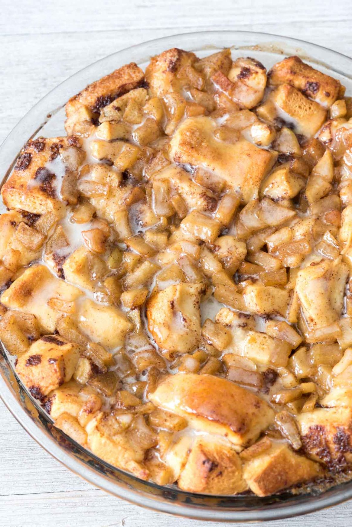 Apple Fritter Cinnamon Roll Bake - Easy Recipes With Apples