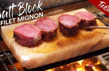 Are Grilled FILET MIGNON on SALT BLOCK good? | GugaFoods